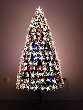 Image Unavailable - Amazon.com: 5ft Multi Color LED Fiber Optic Pre-lit Christmas Tree