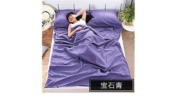 CAR SHUN Bolsa de Dormir Suave Liner-Hoja de Viaje Ligero Camping Bolsa de Dormir prevenir Sucio en Hotel de Negocios,Blue,120 * 210cm: Amazon.es: Hogar