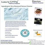 Queen Size Luxury Living Premium Hypoallergenic 100% Terry Waterproof Mattress Protector by Royal Hotel
