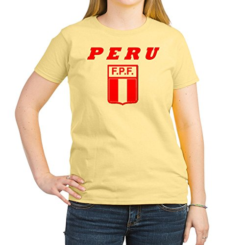 fan products of CafePress Peru Copa America T-Shirt - Womens Cotton T-Shirt, Crew Neck, Comfortable & Soft Classic Tee