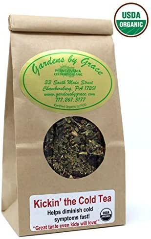 Cold and Sinus, Sore Throat, Cough, Allergy, Mucus Relief, Day, Night Time Natural Remedy, Organic Loose Leaf 2 ounces