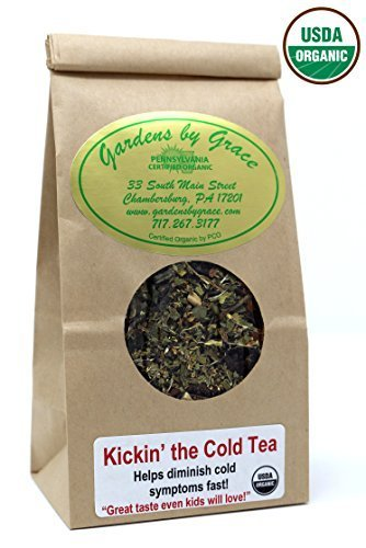 (Cold and Sinus, Sore Throat, Cough, Allergy, Mucus Relief Organic Herbal Tea, Day, Night Time Natural Remedy, Loose Leaf, Vegan, 2 oz)