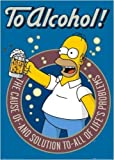 Faverlkujj The Simpsons Poster to Alcohol Homer Simpson,24 x 36 inches