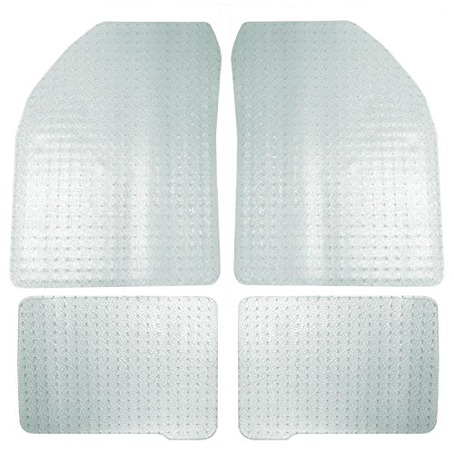 Coverking Front and Rear Floor Mats for Select Pontiac Grand Am Models - Nibbed Vinyl (Clear)