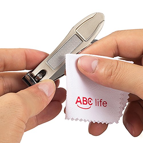 ABC life Nail Clippers with Catcher,Very Sharp Sweet Cleaning Cloth Deluxe Sturdy Stainless Steel Fit Fingernail and Toenail, Suitable to Men,women,baby and Thick Nails (Big&Small) by ABC life (Image #8)