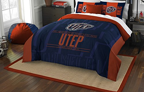 The Northwest Company Officially Licensed NCAA Texas El Paso Miners Modern Take Full/Queen Comforter and 2 Sham - Paso Set Comforter El