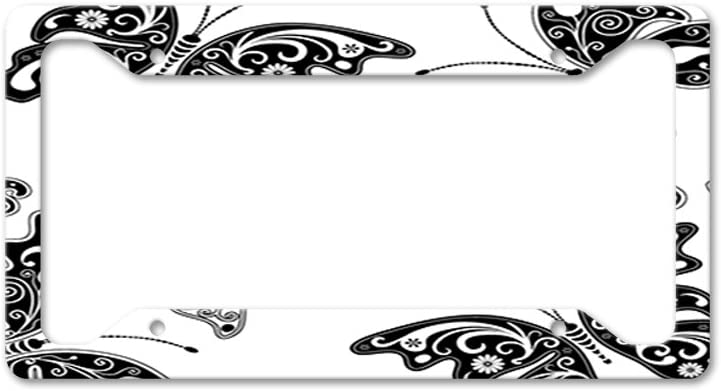 Style In Print Beautiful Butterfly Auto Car License Plate Frame Tag Holder 4 Hole