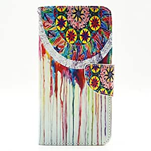 YULIN Colorful Cloth Open PU Leather Wallet Case Cover Stand with Screen Protector for Samsung Galaxy A7