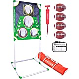 GoSports Football & Baseball Backyard Toss Games | Choose Football Red Zone Challenge or Baseball Pro Pitch Challenge | Targets Include Balls, Scoreboard and Carrying Case