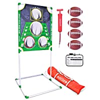 GoSports Football & Baseball Toss Games Available in Football Red Zone Challenge or Baseball Pro Pitch Challenge Choose Between Backyard Toss or Door Hang Targets