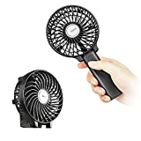 EasyAcc 2600mah Battery Handheld Fan Portable Battery Operated USB Fan Mini Personal Fan Outdoor Electric Fan with Rechargeable LG 2600mAh Battery Adjustable 3 Speeds Foldable Home and Travel -Black