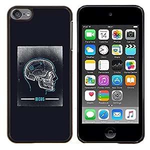 YiPhone /// Prima de resorte delgada de la cubierta del caso de Shell Armor - Cráneo Cerebro Anatomía Biología Humana - Apple iPod Touch 6 6th Touch6