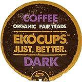 EKOCUPS Artisan Organic Dark Coffee, Dark Roast, in Recyclable Single Serve Cups for Keurig K-cup Brewers, 40 count
