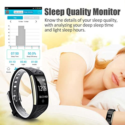 Diggro S2 Smart Bracelet Sports Fitness Tracker Heart Rate Sleep Quality Monitor Call/SMS Reminder IP67 Waterproof for Android IOS