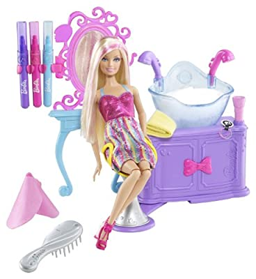 Barbie Hairtastic Color And Wash Salon Playset by Mattel