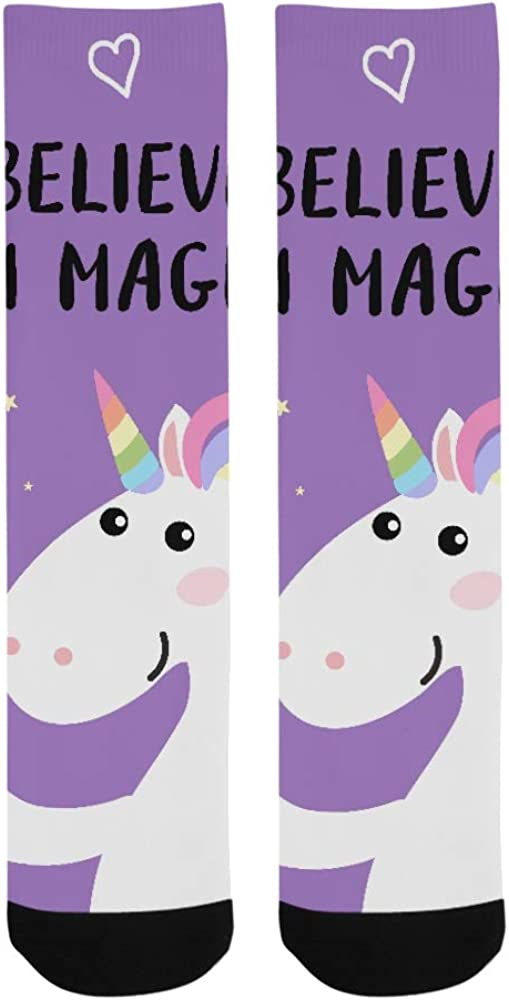 Sweet Cartoon Unicorn Child And Baby Crazy Dress trouser Sock For Men Women kid