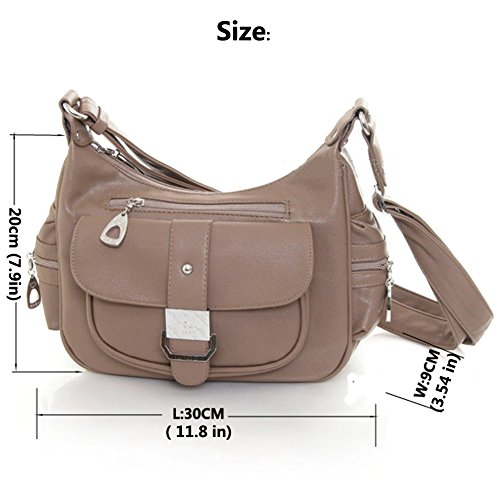 New Fashion Vintage Lady Shoulder Bags Multiple Pockets Women Messenger Bags