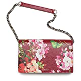 GUCCI Handbag BAMBOO DAILY SMALL BLOOMS Red Leather Bag