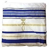 HolyLandMarket Mens Messianic Shawl / Tallit - The Messiah Tallit Royal Blue / Gold