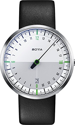 Botta-Design-222810-Mens-UNO-24-One-Hand-White-Green-Watch-w-Date