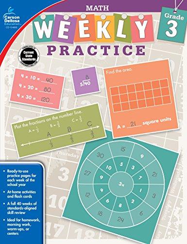 Carson-Dellosa Weekly Practice: Math Workbook, Grade - Dellosa Carson Graphing