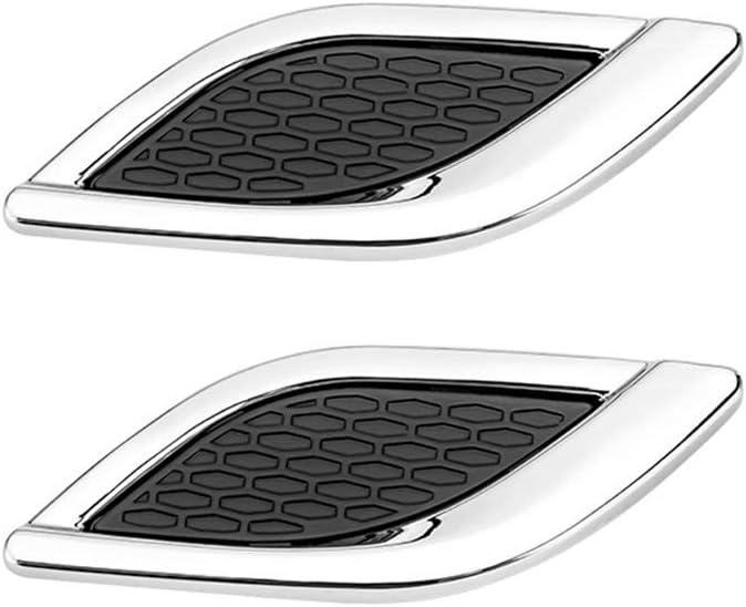iSpchen Adesivo decorativo per cofano Decorazione per cofano per ventilazione laterale Copertura per presa daria per auto con base in nastro adesivo per decorazioni per auto