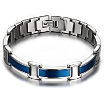 JFUME Magnetic Therapy Bracelet for Men or Women Pain Relief for Arthritis Royal Blue 8.3inch
