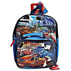 """12"""" Disney Cars Small Backpack with Lunch Bag"""