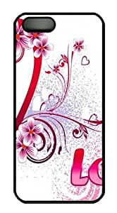 iPhone 5S Cases Covers -Valentines Day Custom PC Hard Case Cover for iPhone 5/5S Black Halloween gift