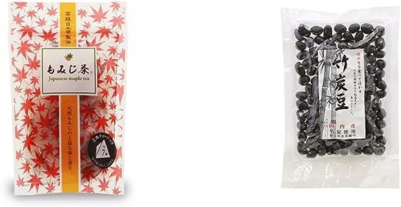 [2点セット] もみじ茶(7パック入)・国内産 竹炭使用 竹炭豆(160g)