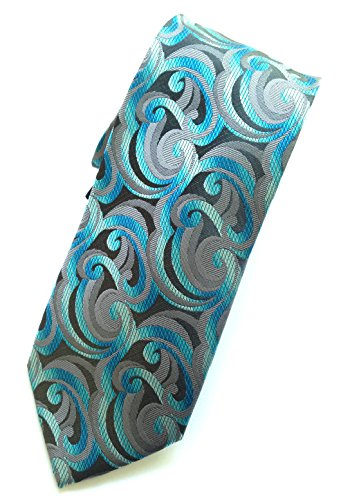 John Ashford Mens Twirl Neck Tie, Aqua,One Size
