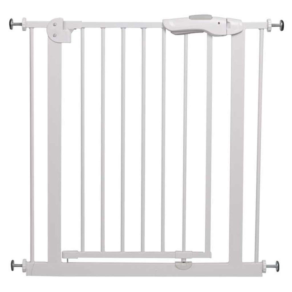 85-94cm MBD Indoor Safety Gates Extra Wide Baby Gate White Fits Spaces Between 75-194cm Wide Pressure Mounted Pet Door (Size   85-94cm)