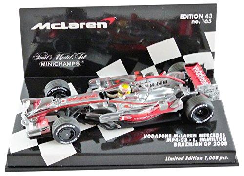 Mclaren Mercedes Mp4 23  No 22  Vodafone  Formula 1  Gp Brasil  2008  Model Car  Ready Made  Minichamps 1 43