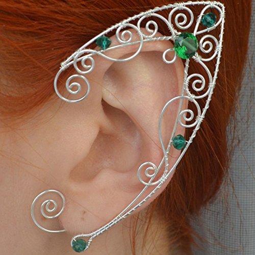 Amazoncom Saint Patricks Day Ear Cuff Pair Earrings Color Emerald