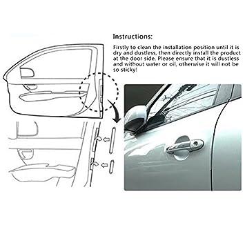 OUYAWEI 133x15x6MM Car Door Anti-Scratch Bar Edge Corner Guard Bumper Buffer Car Door Protector 8PCS//Set Black