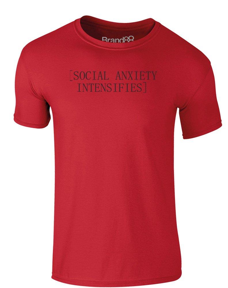 Brand88 - Social Anxiety Intensifies, Erwachsene Gedrucktes T-Shirt:  Amazon.de: Bekleidung