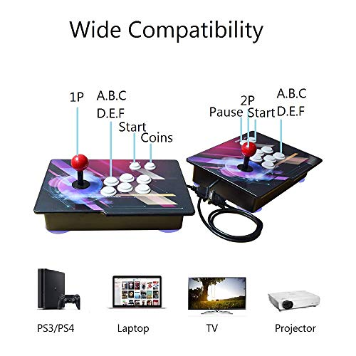 Haberman Arcade Game Console 1080P, 3D & 2D Games 2350 in 1, 2 Players Arcade Game Machine with Arcade Joystick for Home, Support Expand 10000+ Games (Console×2) by Haberman (Image #2)