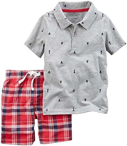 Carter's Boys' 2-Piece Handsome Shirt and Plaid Short Set