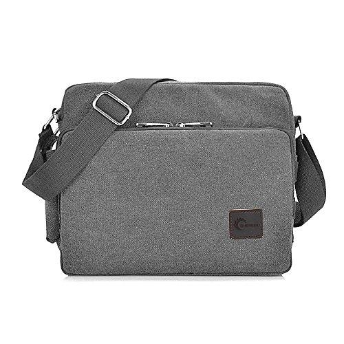Messenger Bag, CHEREEKI Unisex Vintage Canvas Messenger Bags Casual Sling...