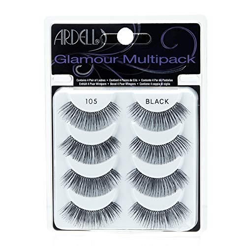 (Ardell Multipack 105 False Lashes, Glamour Fake Eyelash, 1 pack x 4 pairs)