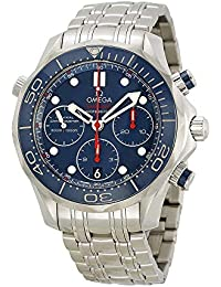 Seamaster Diver Chronograph Blue Dial Steel Mens Watch 21230425003001