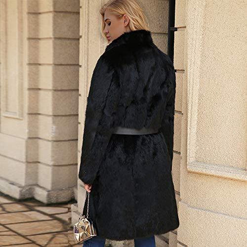 Giacca Caldo Elecenty Nero Donne Cappotto Parka Lana Artificiale Outwear Capispalla Invernale qqYTFRx