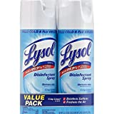 Lysol Disinfectant Spray, Crisp Linen Scent, Twin Pack, 2 x 12.5 oz (Pack of 9)