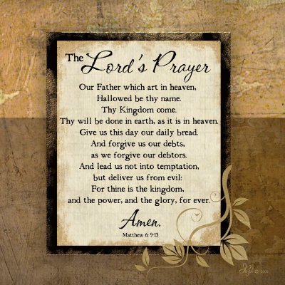 The Lord's Prayer - Poster by Jennifer Pugh (12 x 12) - Lords Prayer Craft