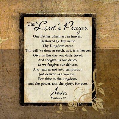 The Lord's Prayer - Poster by Jennifer Pugh