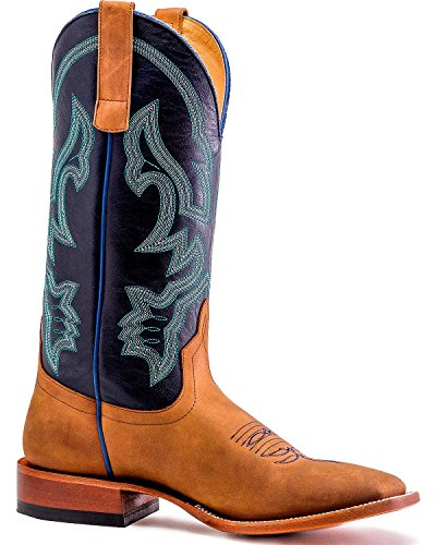 Men's Blue Power Square Toe Adams Brown Ale Horse Honey Boot Hp1810 6Ppxwf