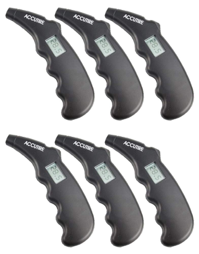Measurement Limited Accutire Pistol Grip Digital Tire Gauge (6 Pack) by Measurement Limited