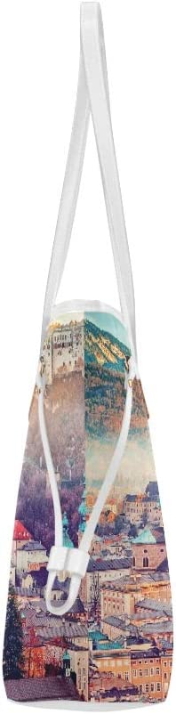 Womans Handbags Salzburg Austria Europe City Alps Mozart Print Tote Bag Classic Shoulder Bag Large Capacity Water Resistant with Durable Handle