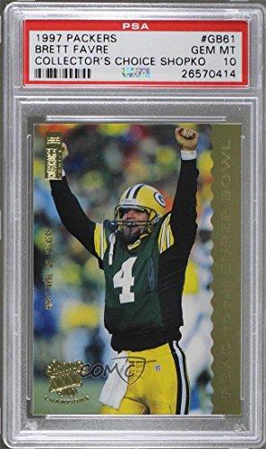 Brett Favre Graded Psa 10 Gem Mt  Football Card  1997 Upper Deck Collectors Choice Green Bay Packers   Shopko  Base   Gb61
