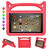 PC Hardware : Case for All-New F i r e H D 8 Tablet (6th Gen, 2016 Release / 7th Gen, 2017 Release), [Kids Friendly] Light Weight Shock Proof Portable Handle Protective Case Cover for F i r e H D 8 Tablet (Red)